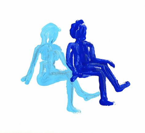 1blaudunkelblau__Zeichnung auf Papier_20x20cm_2010