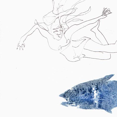 Fische 3_mischtechnik auf Papier_30x30cm_2008