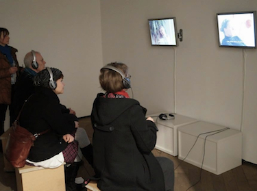 2-channel-installation at: Galerie Jarmuschek+Partner, ISOMERE, 2015