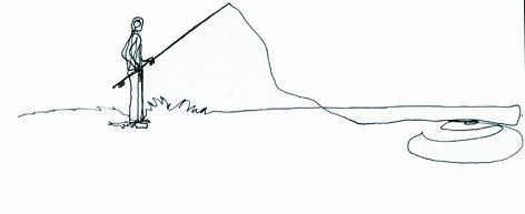 angler 2_zeichnung auf papier_29,7 x 42,0 cm_2005
