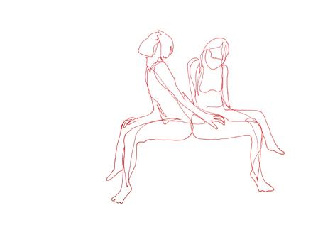 die versuchung_Zeichnung auf Papier, 42 X 29,7 cm_2015