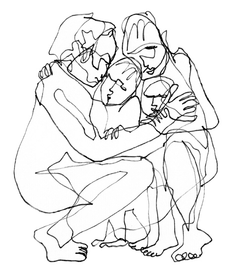 familienbild_1__zeichnung auf papier_210 x 297_2005