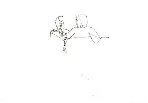 frühling_Zeichnung auf Papier, 29,7 x 42 cm_2015