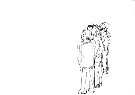 gruppe_Zeichnung auf Papier, 42 x 59,4 cm