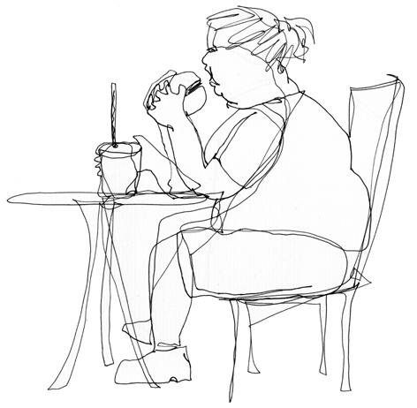 hamburgerfrau_zeichnung auf papier_210 x 297_2005