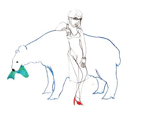 maedchenbaer_Zeichnung auf Papier_25x20cm_2009
