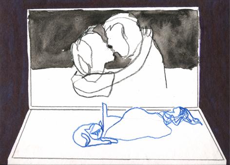 nachts_Zeichnung auf Papier_30x20cm_2014
