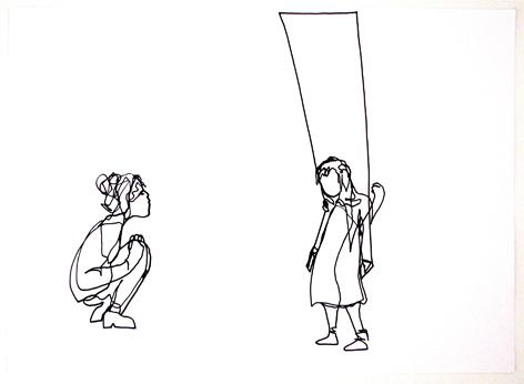 o.t._schaukel_Zeichnung auf Papier, 42 x 59,4 cm_2015