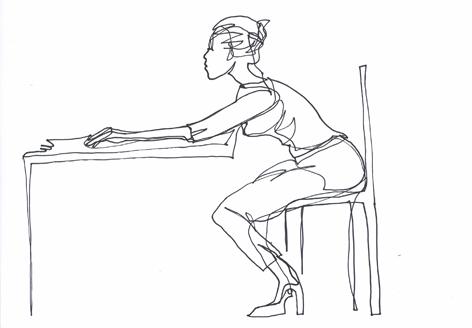 speed dating_Zeichnung auf Papier, 21 x 29,7 cm_2015