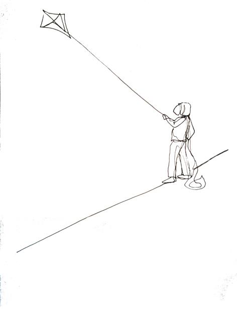 steigen lassen_Zeichnung auf Papier, 42 x 59,7 cm_2015