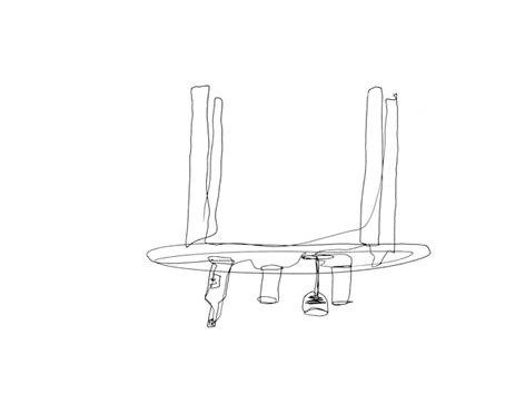 tisch_zeichnung auf papier_29,7 x 42,0 cm_2004
