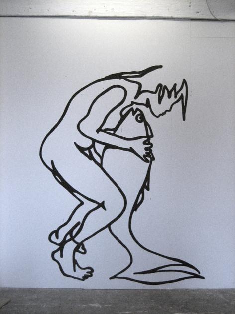 wandzeichnung_Acryl auf Wand_150x200cm_2009