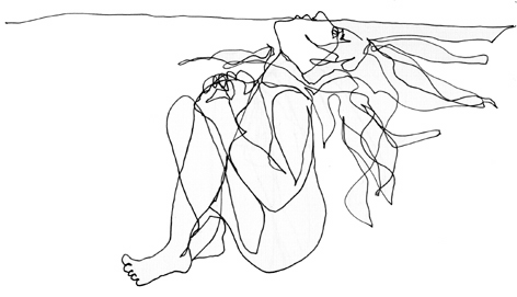 wasser 2__zeichnung auf papier_210 x 297_2005