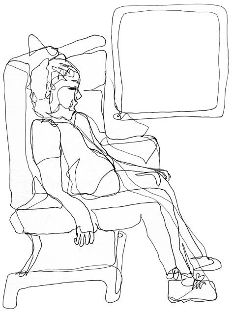 zugschlafender_zeichnung auf papier_297 x 210_2005