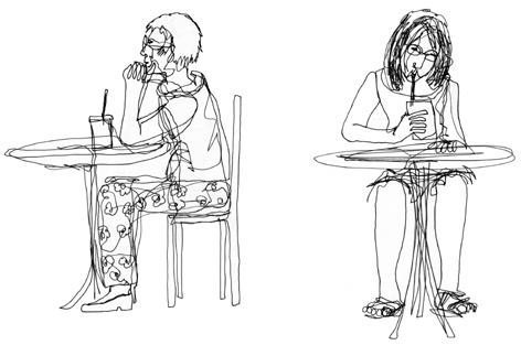zwei_im_cafe_zeichnung auf papier_297 x 420_2005