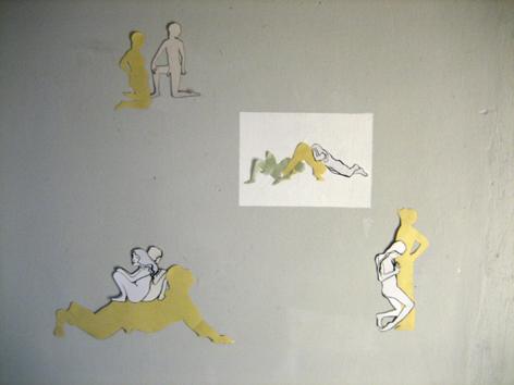 Collagenkomposition auf Wand_2006