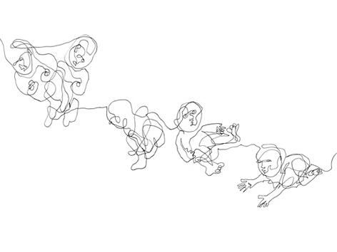 babyreihe_zeichnung auf papier_29,7 x 42,0 cm_2004