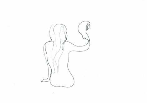 berührung_Zeichnung auf Papier, 21 x 29,7 cm_2015