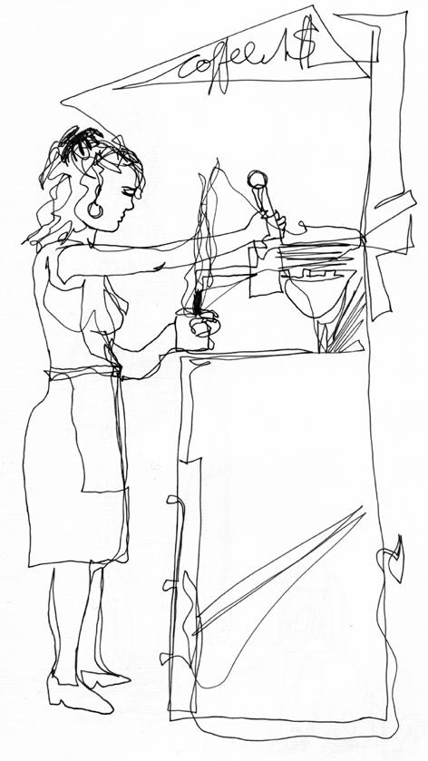 coffee_to_go_zeichnung auf papier_29,7 x 21,0 cm_2005