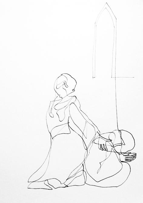 der mönch_Zeichnung auf Papier, 29,7 x 42 cm_2015