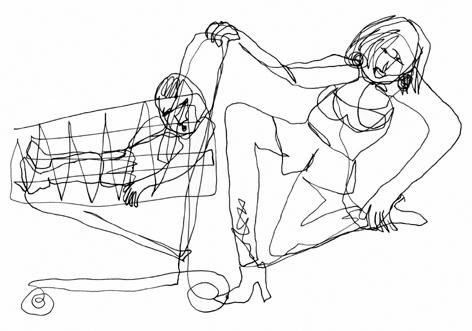 einkauf mit kind_zeichnung auf papier_210 x 297_2005