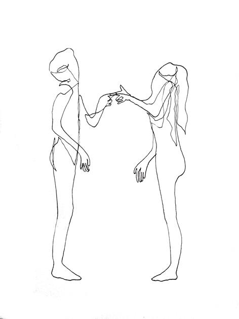 hochmut_Zeichnung auf Papier_42,0x29,7cm_2014