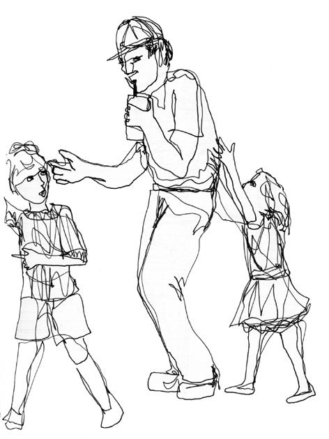 vater_und_kinder_zeichnung auf papier_297 x 210_2005