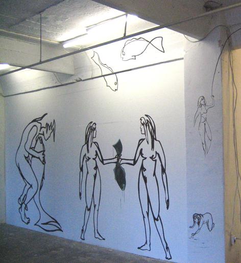 wandzeichnunguebersichtAcryl auf Wand_400x200cm_2009