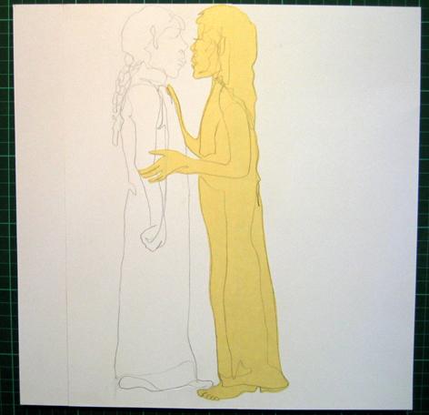 weisse und gelbe frau collage_collage_21,0 x 29,7cm_2006